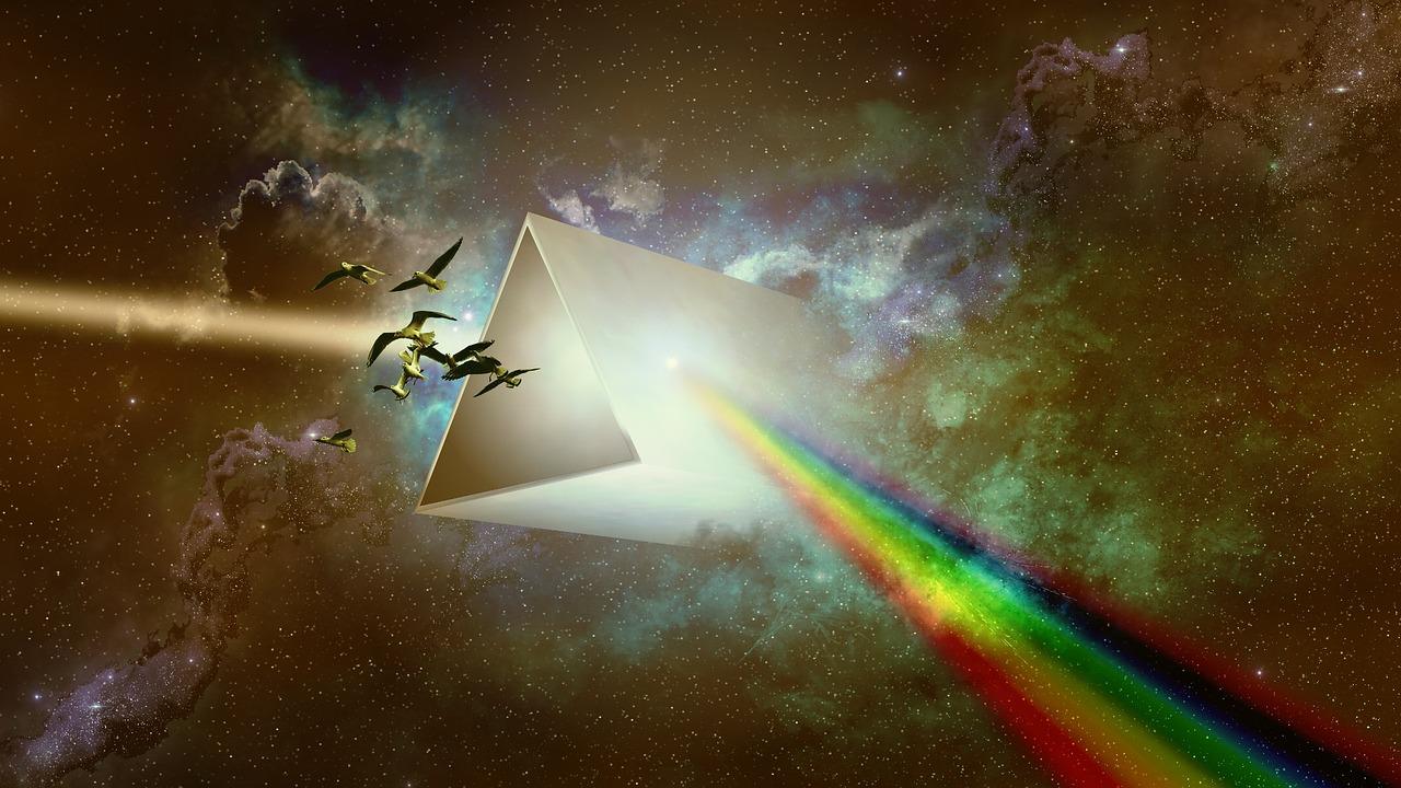 prisma stralen kleuren
