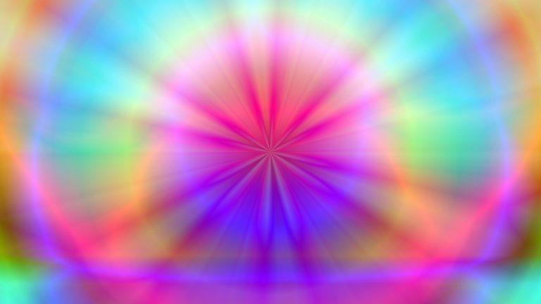 kleuren stralen